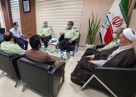 دیدار با فرمانده و مسئولین نیروی انتظامی استان