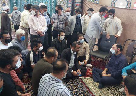 دیدار و گفتگو با مردم/ نمازجمعه گرمدره